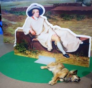Goethe nella campagna romana col suo cane