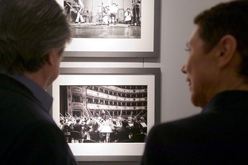 """Riccardo Muti e Silvia Lelli alla mostra """"Musiche"""", Ravenna 2017"""